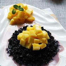椰汁芒果紫米饭的做法