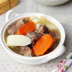 山药胡萝卜炖羊腿的做法
