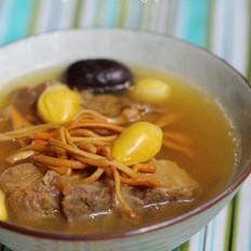 虫草花银杏龙骨汤的做法