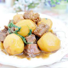 牛肋条酱烧小土豆的做法