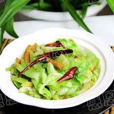 炝炒卷心菜的做法