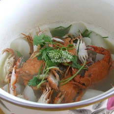 海蟹萝卜汤的做法