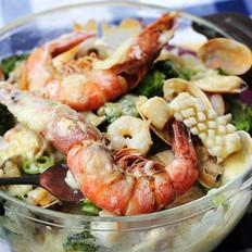 海鮮芝士焗飯的做法