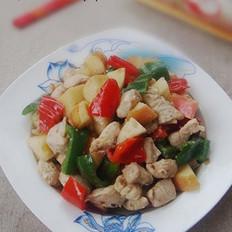 辣椒苹果炒鸡丁的做法