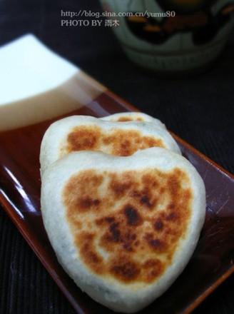 心形大肚馅饼的做法
