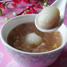 銀耳荔枝綠豆粥的做法