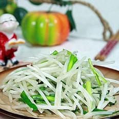 豆芽炒韭菜的做法