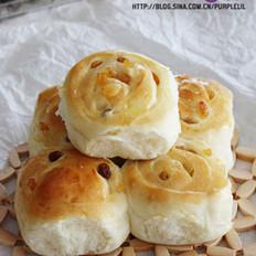 葡萄卷面包的做法