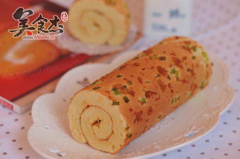 葱香肉松毛孔卷母蛋糕的猪肉图片