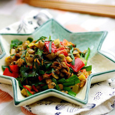 韭香螺蛳肉的做法