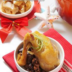 铁锅香菇水蒸鸡 的做法