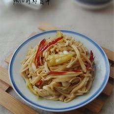 双椒炒菇丝的做法