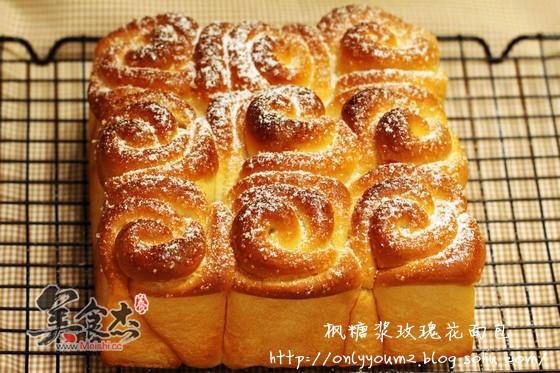 枫糖浆玫瑰花面包