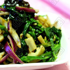 豆豉菠菜凉拌藕的做法