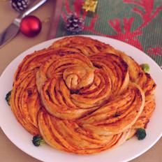 玫瑰披萨的做法