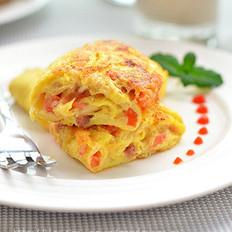 煎火腿奶酪蛋饼的做法