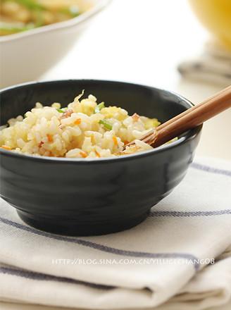 杂蔬蛋炒饭的做法