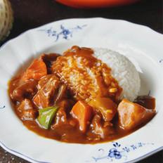 咖喱牛腩盖浇饭的做法