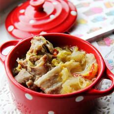 酸菜排骨炖五花的做法