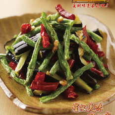长寿豆角炒茄子的做法