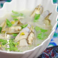杏鲍菇黄豆芽蛏子汤的做法