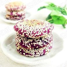 香煎芝麻紫薯餅的做法