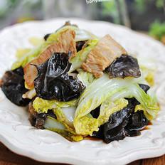 白菜炒木耳的做法