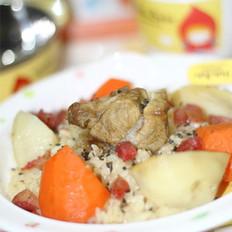 红萝卜土豆排骨饭 的做法