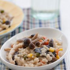 杂烩蘑菇炖饭的做法