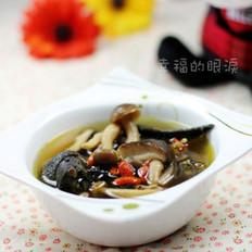 乌鸡蘑菇汤的做法