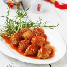 茄汁素丸子 的做法