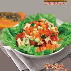 桃紅柳綠拌沙拉的做法