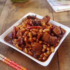 黄豆红烧肉的做法