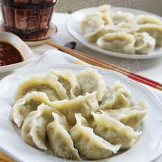 青菜鲜肉水饺的做法