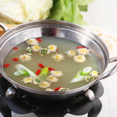 菊花暖锅 的做法