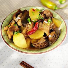 土豆花菇炖鸡块的做法