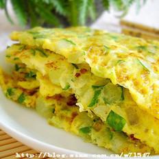黄瓜煎鸽蛋的做法