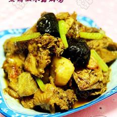 黑胡椒冬菇焖鸡的做法