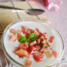 薄荷蜜桃酸奶的做法