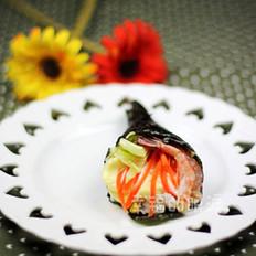 北极虾手卷寿司的做法