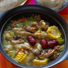 粵式養顏雞湯火鍋 的做法