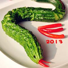 蛇年黄瓜的做法