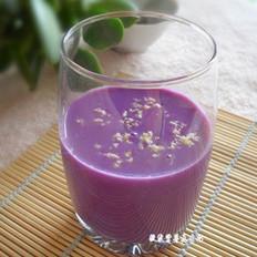 梦幻紫薯花生奶的做法