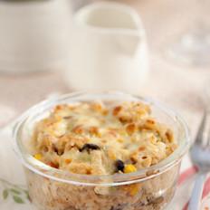 芝士蘑菇焗饭的做法