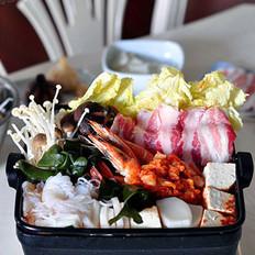 韓風辣味豚肉鍋的做法