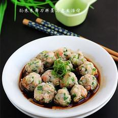 豉油鲜虾韭菜丸的做法