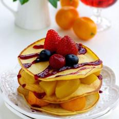 藍莓水果小煎餅 的做法
