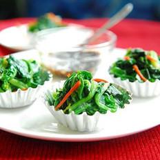 菠菜翡翠球的做法