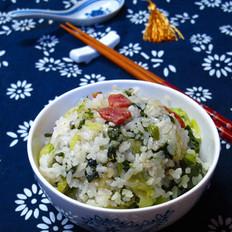 青菜腊肠菜饭的做法