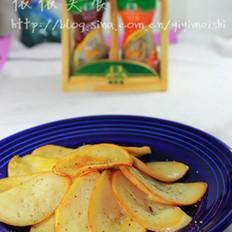 黑椒煎杏鲍菇 的做法